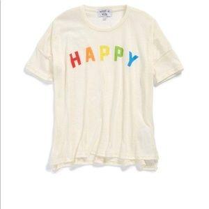 Wildfox Rainbow Happy Girl Sunny Morning T-shirt